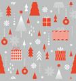 seamless christmas pattern stylized christmas gift vector image vector image