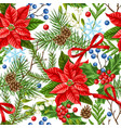 seamless pattern with winter plants vector image vector image