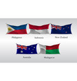 set flags of countries of the pacific and indian vector image vector image
