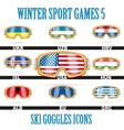 Ski goggles icons vector image vector image