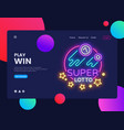 super lotto horizontal web banner gambling vector image