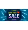 Super sale bright colourful banner vector image