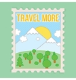 Travel more motivation postcard vector image vector image