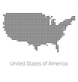 USA Map black dotted design vector image
