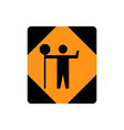 usa traffic road signstraffic control person vector image