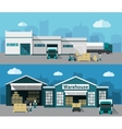 Warehouse Flat Banner Set vector image vector image
