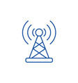wireless connection line icon concept wireless vector image vector image