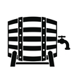 Wooden barrel of beer with a tap icon vector image vector image