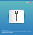 wrench icon - blue sticker button vector image