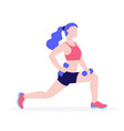 woman doing physical exercises with dumbbells vector image