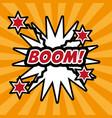 pop art boom comic bubble speech explotion vector image