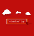 valentines day background poster template with vector image