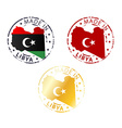 made in Libya stamp vector image