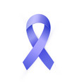 3d blue ribbon to colon cancer and colo-rectal vector image