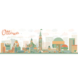 Abstract Ottawa Skyline with Color Buildings vector image