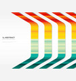 abstract stripe line tech summer colorful pattern vector image vector image