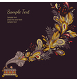 background autumn music vector image vector image