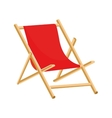 Beach chair icon vector image