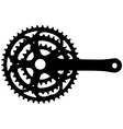 Bicycle crankset vector image vector image