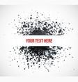 big black grunge splash on white background vector image vector image