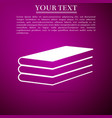 books icon isolated on purple background vector image vector image
