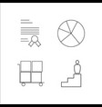 business simple linear icon setsimple outline vector image vector image