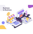 business to business modern flat design style vector image