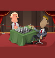 businessmen playing chess vector image vector image
