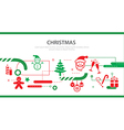 christmas banner flat design vector image