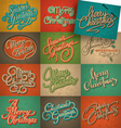 christmas vintage cards set vector image vector image