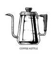 coffee kettle vector image vector image