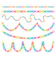colorful paper chains hanging festive christmas vector image vector image