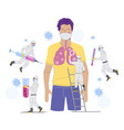 corona virus treatment concept flat vector image