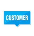 customer price tag vector image vector image