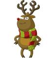 deer scarf vector image vector image