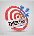 direct mail target dart icon vector image