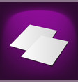 document blank mock-up realistic vector image vector image
