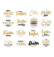 easter typography design vector image vector image