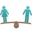 Equal male female sex equality balance vector image