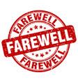 farewell red grunge stamp vector image vector image