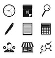 financial prosperity icons set simple style vector image vector image