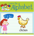 Flashcard letter C is for chicken vector image