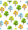 four seasons trees pattern vector image vector image
