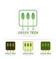 green technology logo vector image vector image
