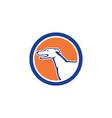 Greyhound Dog Head Side Retro Circle vector image vector image
