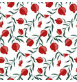 hand drawn pomegranate seamless pattern vector image vector image