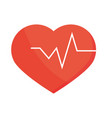 healthy heartbeat medicine in flat style vector image vector image