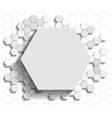 Hexagon flat background vector image vector image