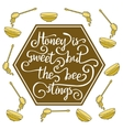 Hiney is sweet but the bee stings