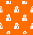 house after an earthquake pattern seamless vector image vector image